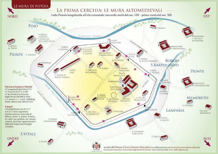 Le cerchie di mura di Pistoia
