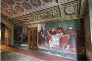 Interno del villone Puccini