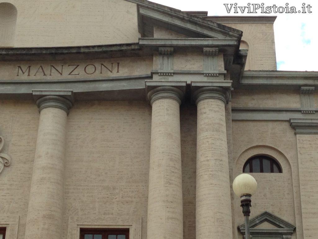 Particolare del Teatro Manzoni