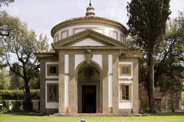 Veduta della cappella annessa alla Villa