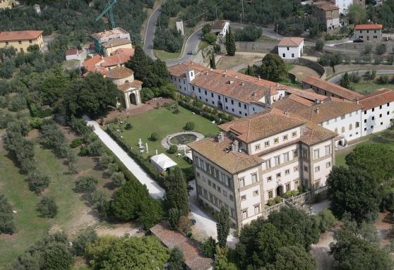 Veduta dall'alto della Villa Rospigliosi