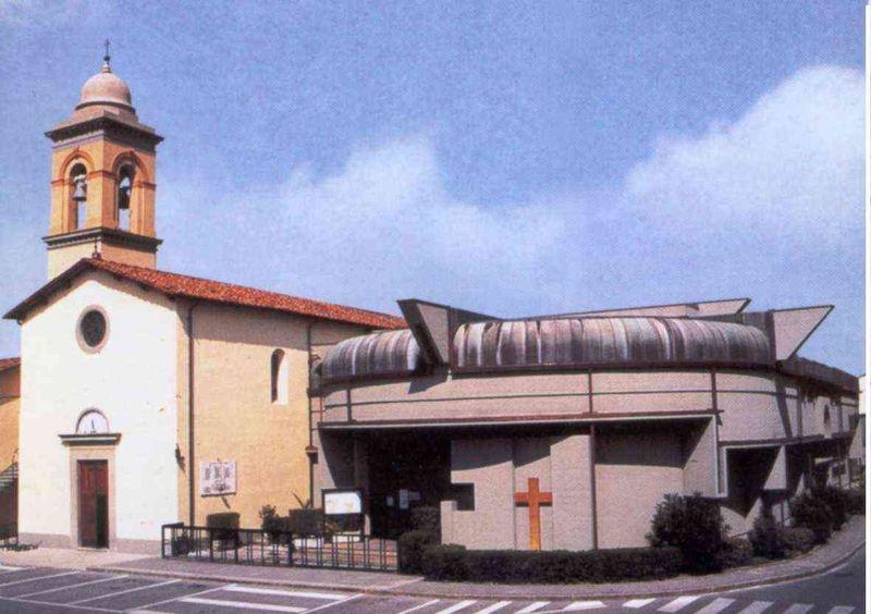 facciata  frontale-laterale esterno chiesa