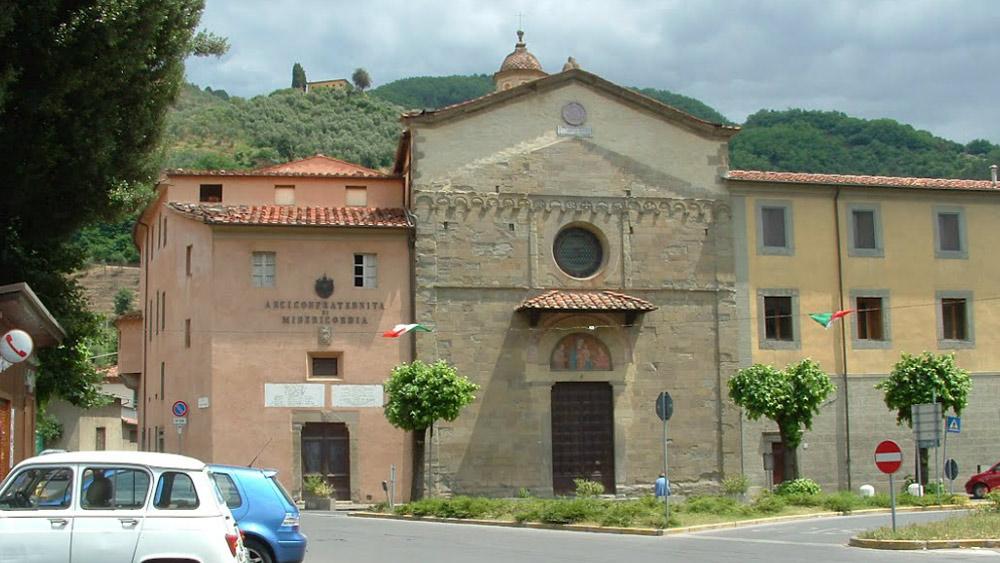 facciata della chiesa di san Francesco a Pescia
