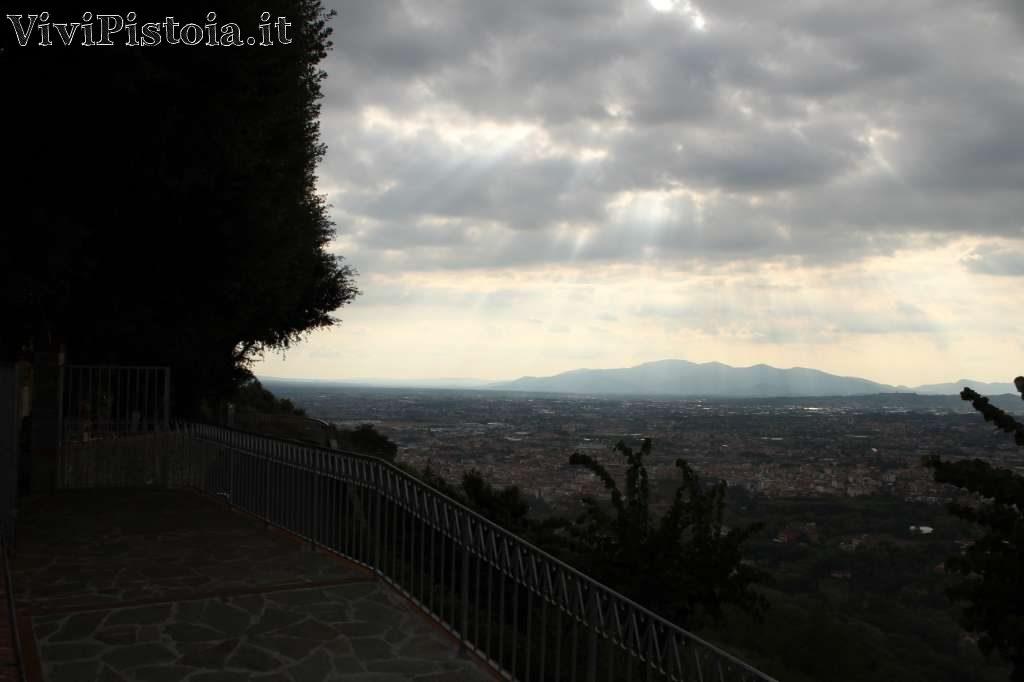 Vista sulla valle da Montecatini Alto